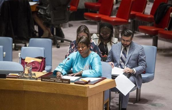 ICC prosecutor Fatou Bensouda addressing the UN Security Council on 12 December 2014 (UN)