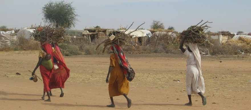 Women carrying firewood in Darfur (Potential Energy)