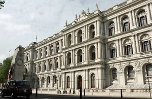 Main building of the UK government