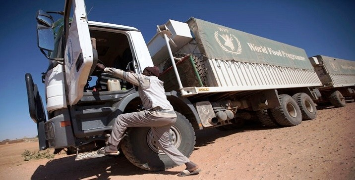 A WFP lorry in Darfur (file photo)
