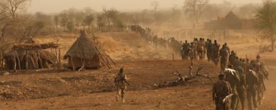 SPLM-N rebel fighters in Dondor, eastern Nuba Mountains (June 2013)