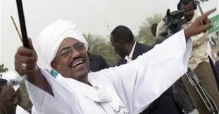 President Omar Al Bashir at a rally in Sudan (file photo)