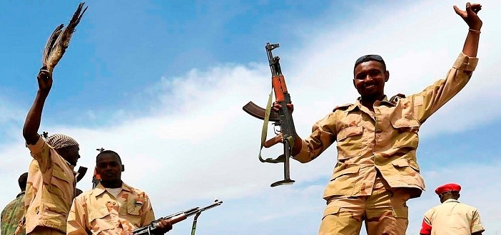 Paramilitaries of the Rapid Support Forces in South Darfur (file photo)