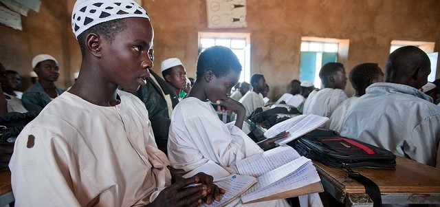Basic school classroom in Kabkabiya built by Unamid (Albert González Farran/Unamid)