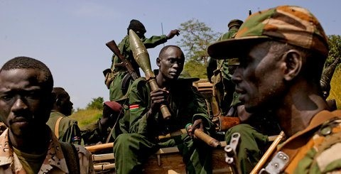Rebel fighters of the SPLA-N in Blue Nile State, in southern Sudan (New York Times/Peter Muller)