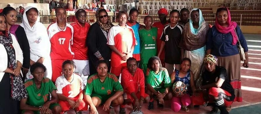 Sudan's women football team, June 2014 (RD)