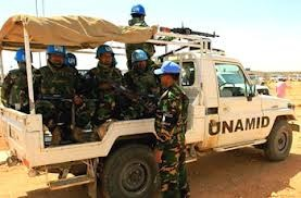 Soldiers of the Unamid in Darfur (file photo)