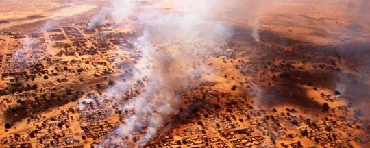 Um Zeifa village in Darfur after an attack by government-backed militiamen (HRW)