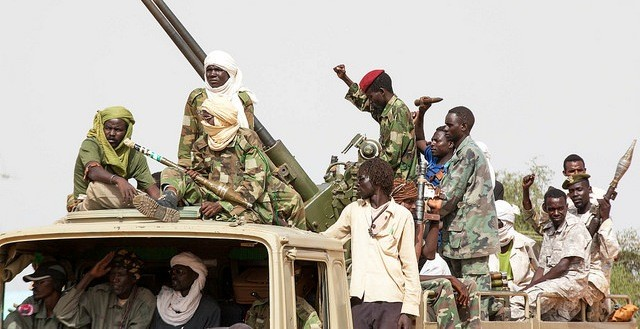 JEM-Sudan troops at the official launch of their integration into Sudan's regular forces, El Fasher, 24 August 2014 (Hamid Abdulsalam/Unamid)