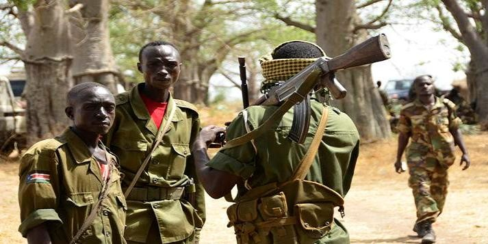 Fighters of the Sudan People's Liberation Army-North in Sudan, right before an attack on the Sudan Armed Forces (file photo)