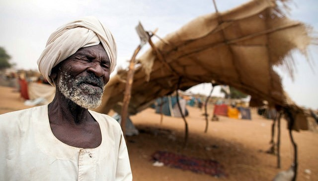 A newly displaced man at Zamzam camp, North Darfur, 11 June 2014 (Albert González Farran/Unamid)