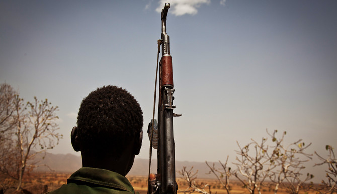 An SPLM-N fighter near Talodi in South Kordofan (AFP)