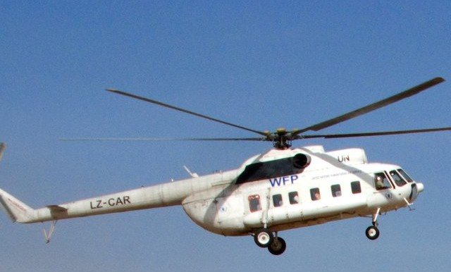A WFP helicopter (file photo)