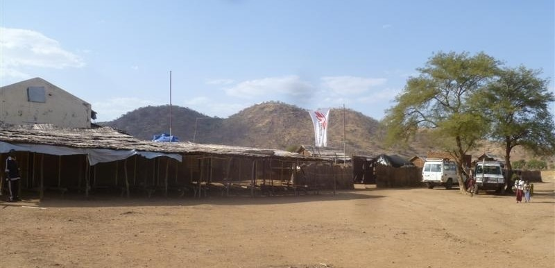 The MSF hospital in Farandallah, Nuba Mountains, that was hit by two bombs on 20 January 2015 (MSF)