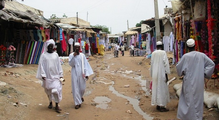 A market in Darfur (file photo)