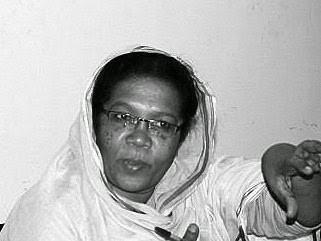 Madeeha Abdallah, editor-in-chief of the Sudanese Communist Party's El Midan daily newspaper (stillsudan)