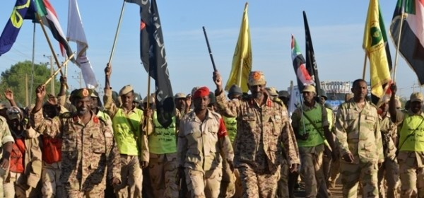 Rapid Support Forces parading at Karari base in Omdurman, 15 December 2014 (file photo)