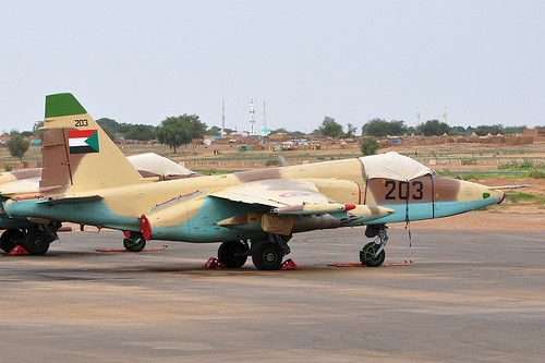 A MiG fighter jet of the Sudanese Air Force