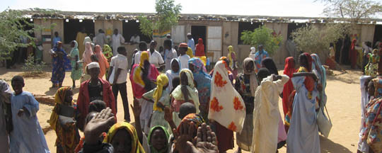 Darfuri refugees in eastern Chad (file photo)