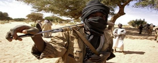 "A militiaman wearing a ""kadamool"" in Darfur (file photo)"