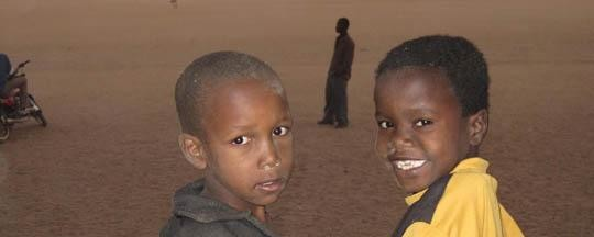 Darfuri boys in a refugee camp in eastern Chad (File photo)