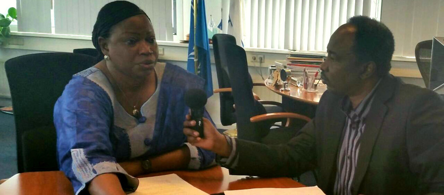 """More or less, the Darfur case is still on the table,"" says Fatou Bensouda in the Hague-based ICC on 27 March, 2015 (Radio Dabanga)"