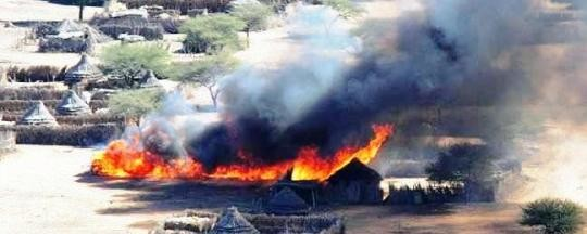 Fire in a Darfur village (RD file photo)
