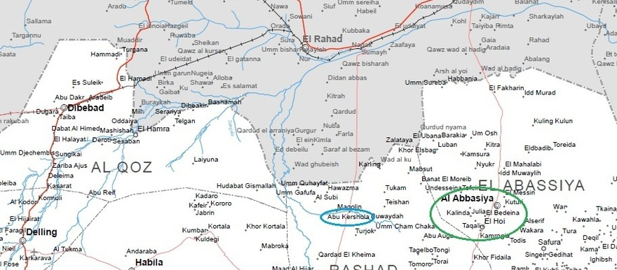 The northern part of South Kordofan (UN OCHA map)