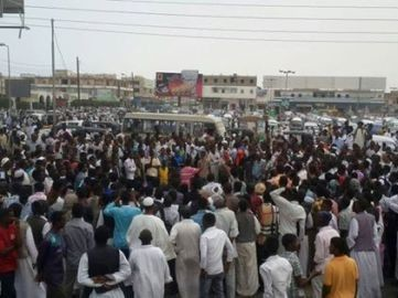 Anti-election protest in Port Sudan in April this year (RD)