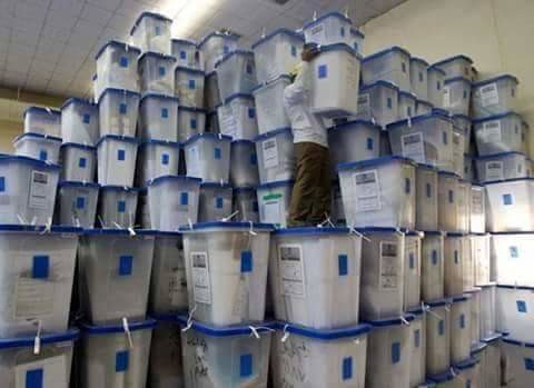 Ballot boxes being stored in Khartoum on Wednesday (Radio Dabanga file photo)