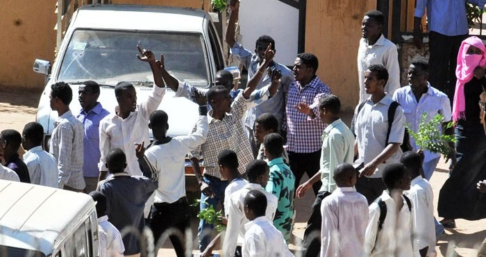 A photo taken in September 2013, during one of the many violent street protests that took place in Khartoum (news agencies)