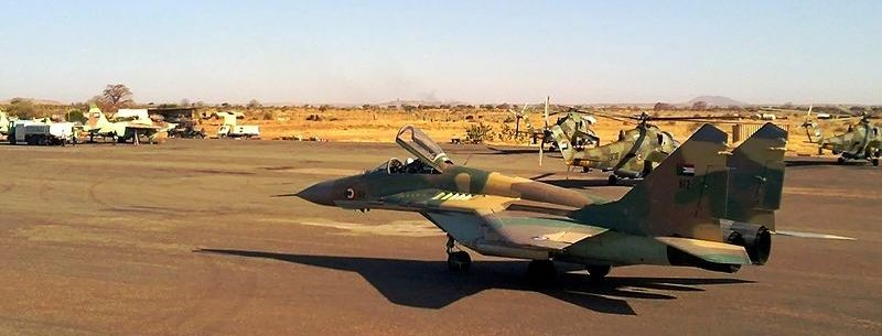 File photo: A Sudanese Air Force MiG-29 jet.