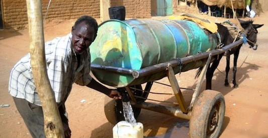 A water seller in Sudan
