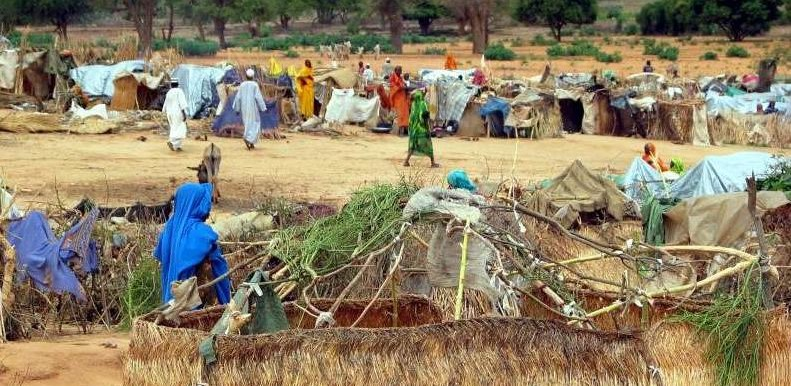 Displaced people near El Geneina, capital of West Darfur (file photo)