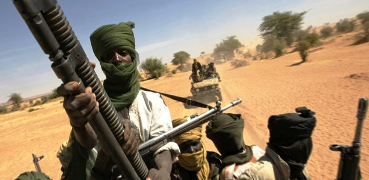 Militiamen in Darfur (File photo)