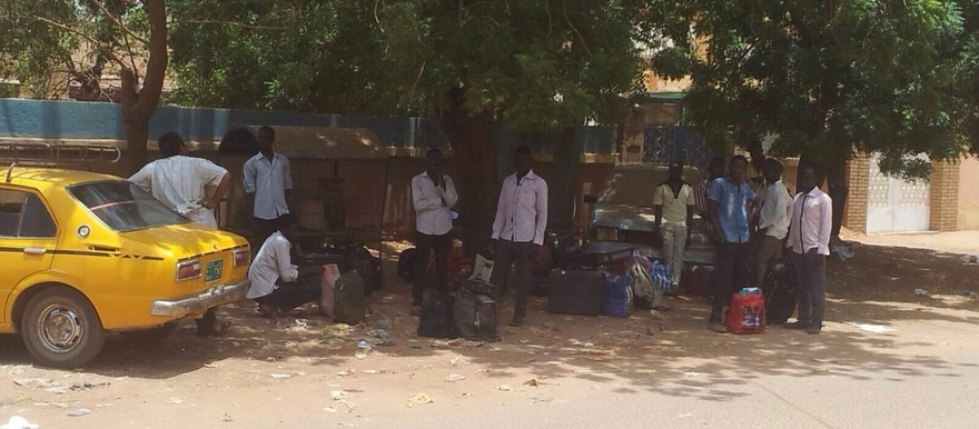 File photo: Students who were evicted from their dormitories in Khartoum North in July 2015 (RD)