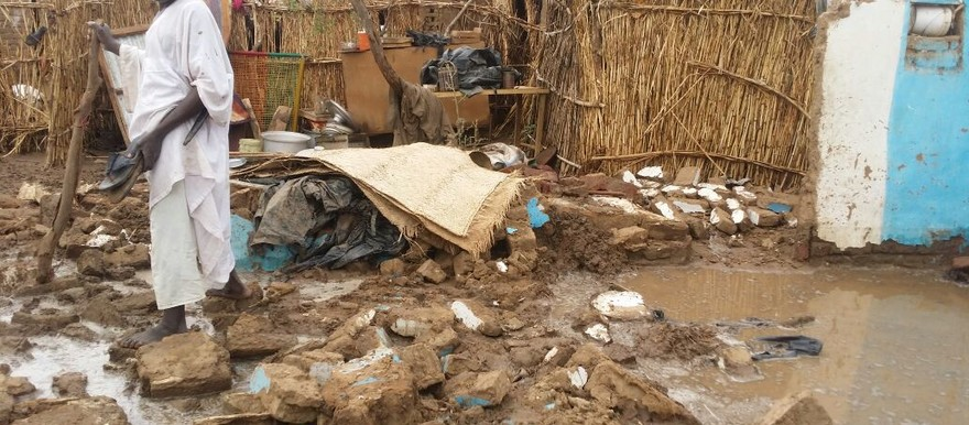 Kalma camp in South Darfur after heavy rains this month. Mosquitoes thrive in areas with lots of water where they can lay their eggs (Radio Dabanga)