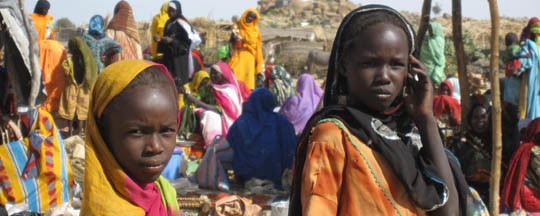 Darfuri children in Touloum refugee camp in eastern Chad (file photo)