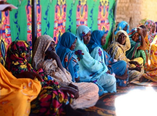 Women in Otash camp for displaced people in Nyala locality, South Darfur, in 2014 (UNDP Sudan)