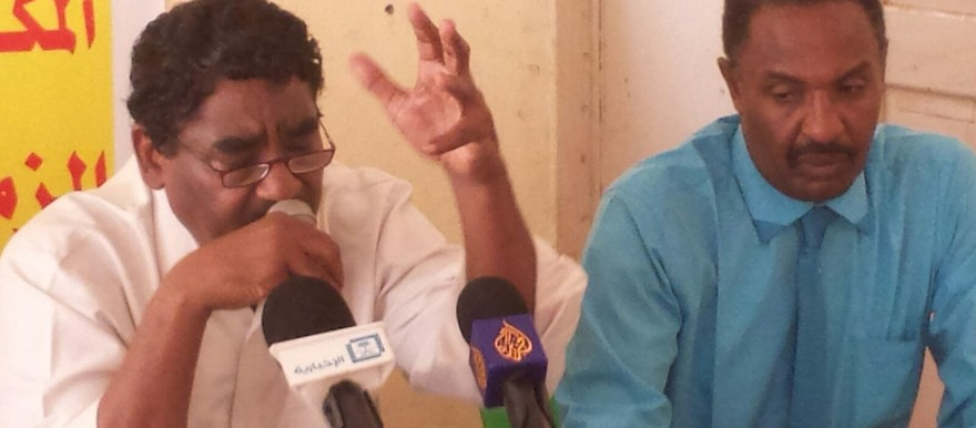 Ibrahim El Sheikh, the then head of the Sudanese Congress Party, at a press conference in Khartoum, 18 August 2015 (file photo)