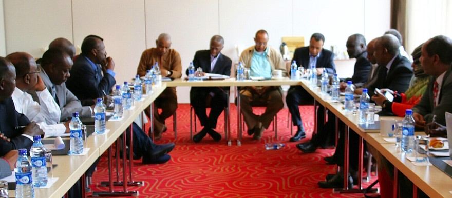 The AUHIP team begins consultations with Sudanese opposition leaders in Addis Ababa, 22 August 2015 (AUHIP)