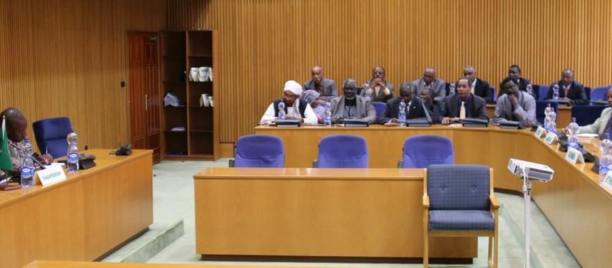 Sudan's opposition forces in a consultation meeting with the AUHIP mediation team in Addis Ababa, 24 August 2015 (AU courtesy)