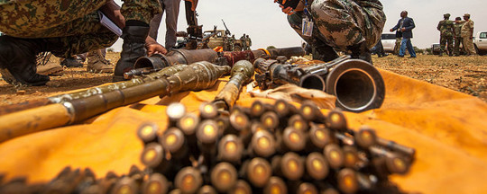 Arms and ammunition collected in Darfur (File photo: Unamid)