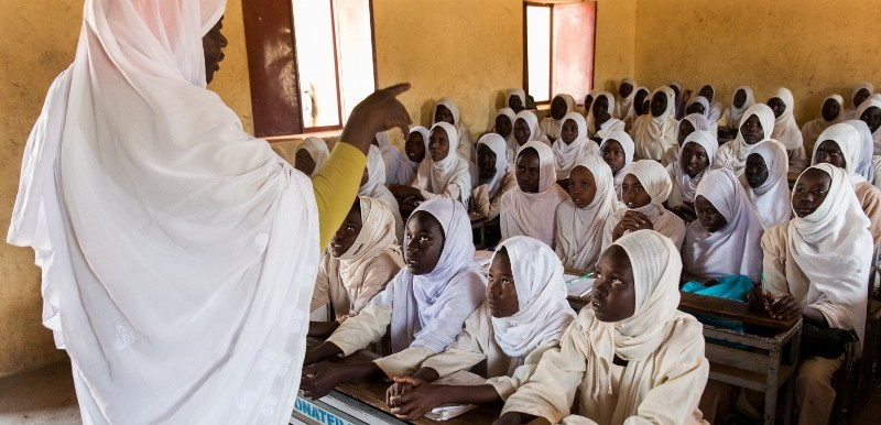 A school class in South Kordofan (file photo)
