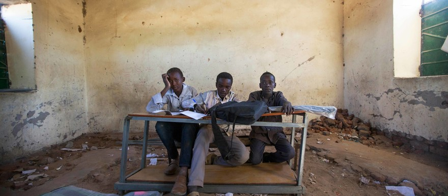 A classroom of a basic school in Labado village in East Darfur (file photo)