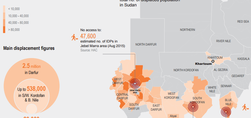 The Humanitarian Snapshot of internally displaced people at the end of 2014 (OCHA)