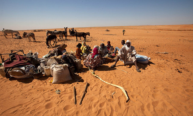 New arrivals at Zamzam camp for the displaced near El Fasher, the capital of North Darfur (Hamid Abdulsalam/Unamid)