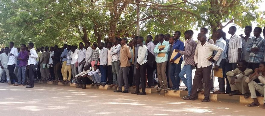 Darfuri students during a sit-in at the Holy Koran University in Omdurman in protest against tuition fees, 13 October 2015 (RD)