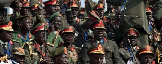 SPLA officers on Independence Day