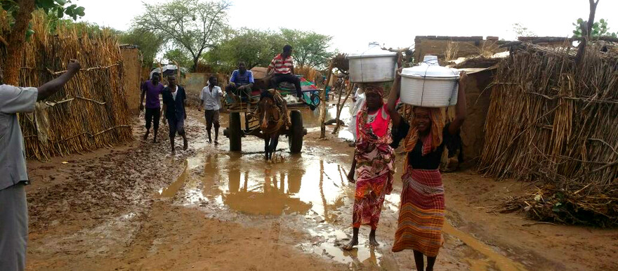 Kalma camp in South Darfur after rains in 2015 (RD)